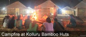 Campfire at Kolluru Bamboo Huts